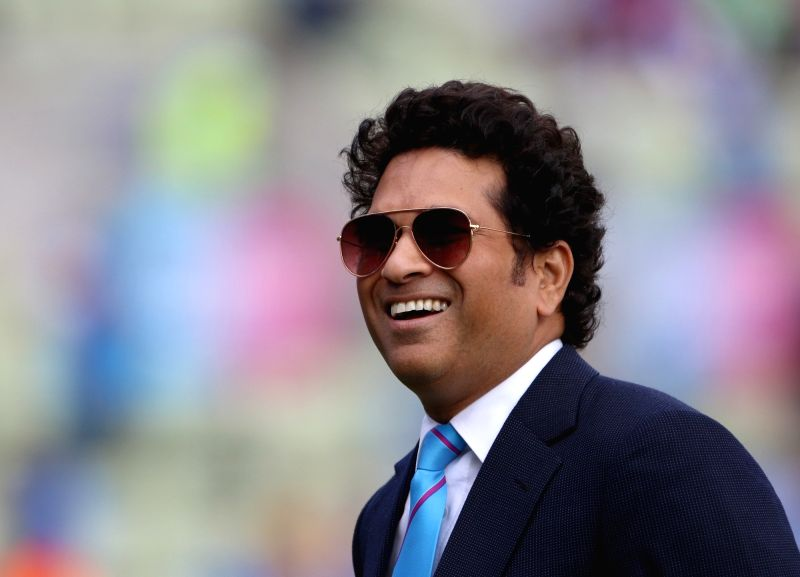 Birmingham: Former Indian cricketer Sachin Tendulkar during the 38th match of World Cup 2019, at Edgbaston stadium in Birmingham, England, on June 30, 2019.(Photo: Surjeet Yadav/IANS)