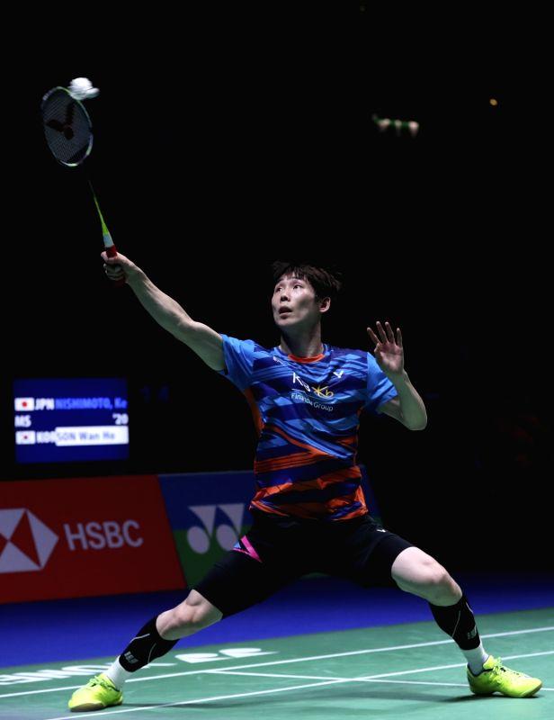 Birmingham March 17 Son Wan Ho Of South Huang China Badminton