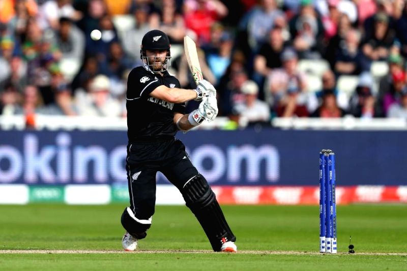 Birmingham: New Zealand skipper Kane Williamson in action during the 25th match of 2019 World Cup between South Africa and New Zealand at Edgbaston Cricket Ground in Birmingham, England on June 19, 2019. (Photo Credit: Twitter/@ICC)