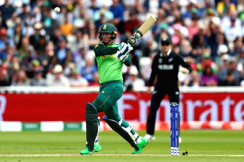 Birmingham: South Africa's Rassie van der Dussen in action during the 25th match of 2019 World Cup between South Africa and New Zealand at Edgbaston Cricket Ground in Birmingham, England on June 19, 2019. (Photo Credit: Twitter/@ICC)