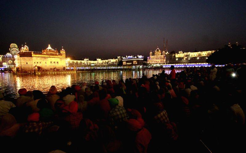 Birth anniversary celebrations of fourth Sikh Guru Ram Das underway at the Golden Temple in Amritsar on Oct 7, 2017.