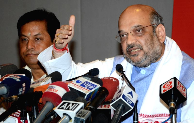 Image result for amit shah press conference