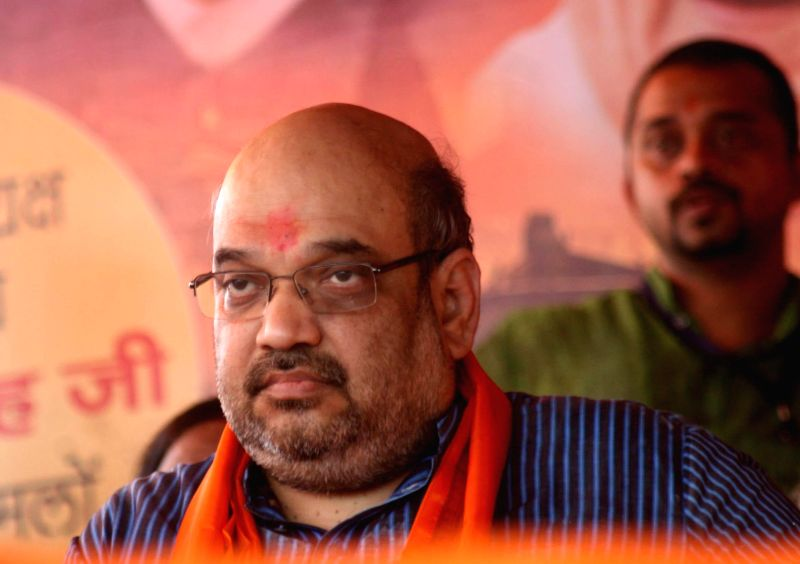 BJP chief Amit Shah during a programme in Varanasi on Aug 20, 2014.
