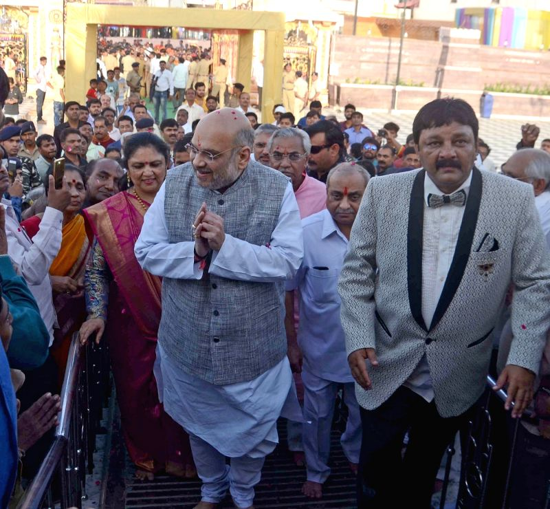 BJP chief Amit Shah during his visit to Ahmedabad on April 23, 2018. - Amit Shah