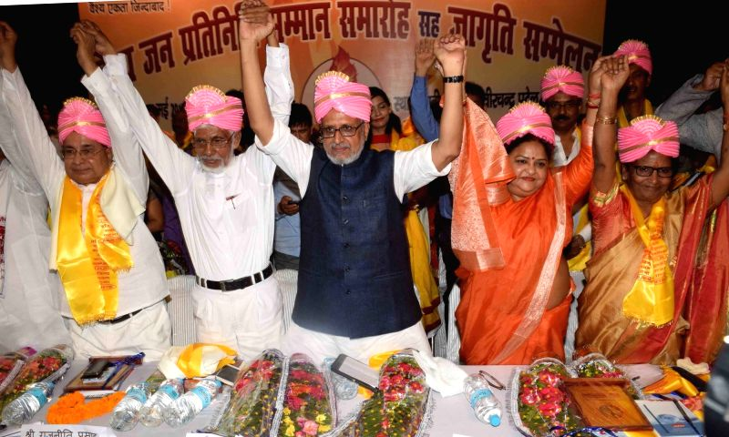 BJP leader Sushil Kumar Modi during a programme in Patna on May 6, 2017. - Sushil Kumar Modi