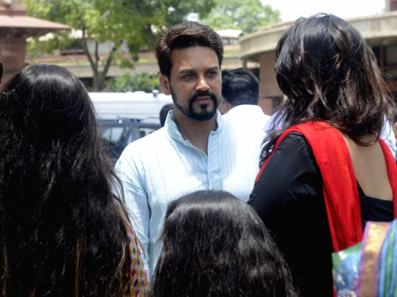 BJP MP and BCCI President Anurag Thakur at Parliament in New Delhi, on July 19, 2016.
