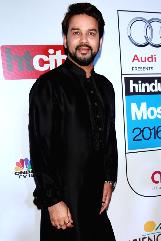 BJP MP and BCCI president Anurag Thakur during red carpet of Hindustan Times Most Stylish 2016, in New Delhi on May 24, 2016.