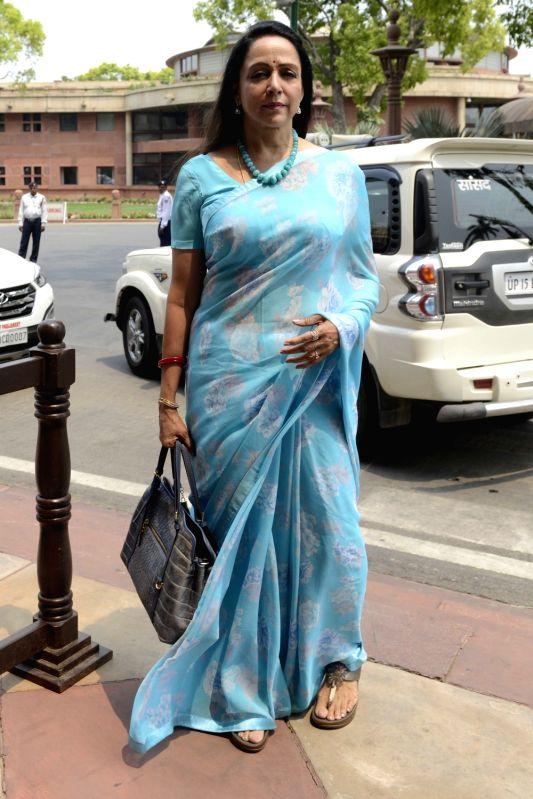 BJP MP Hema Malini at Parliament in New Delhi on May 9, 2016. - Hema Malini