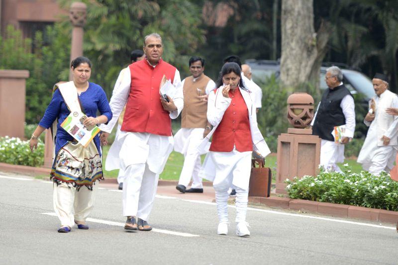BJP MP Jagdambika Pal during BJP Parliamentary Party meeting at Parliament House, on July 26, 2016.