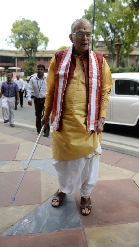 BJP MP Murli Manohar Joshi at Parliament in New Delhi, on July 25, 2016. - Murli Manohar Joshi