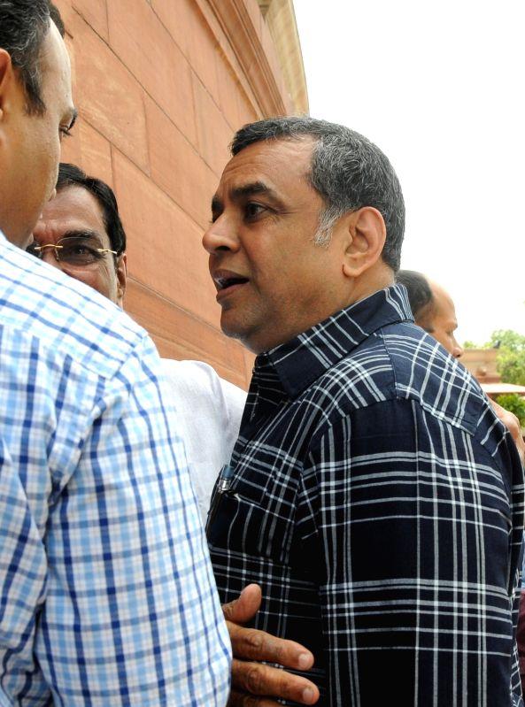 BJP MP Paresh Rawal at Parliament in New Delhi, on July 21, 2016.