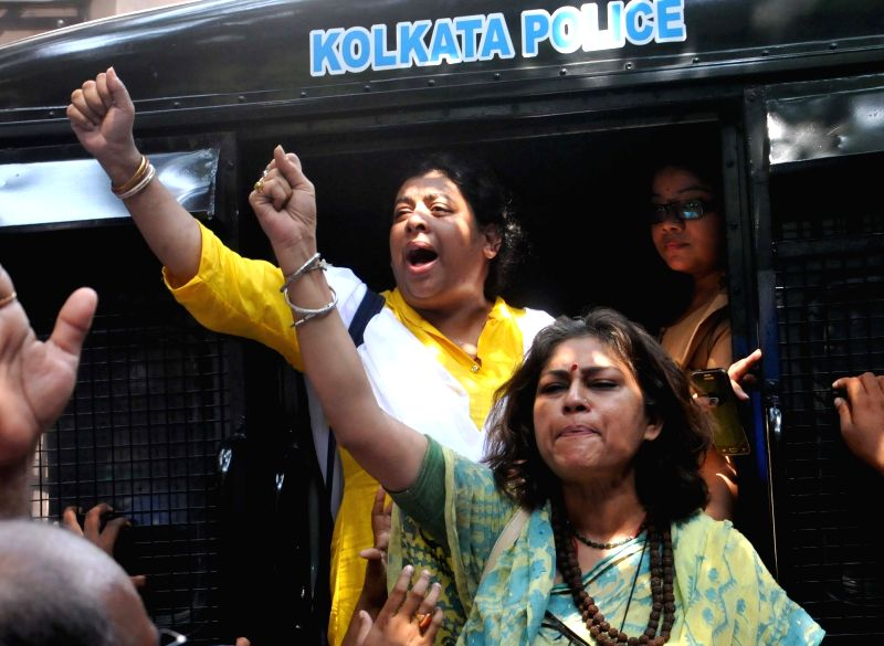 BJP MP Rupa Ganguli being taken to be produced at a Kolkata court on May 26, 2017.