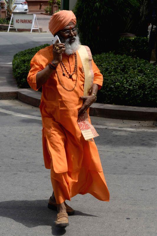 BJP MP Sakshi Maharaj at Parliament in New Delhi, on July 21, 2016.