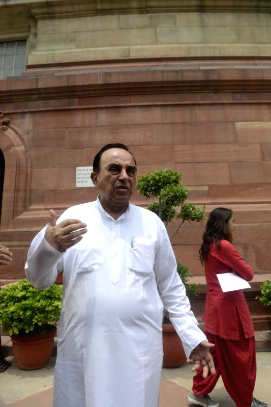 BJP MP Subramanian Swamy at Parliament in New Delhi, on July 26, 2016.