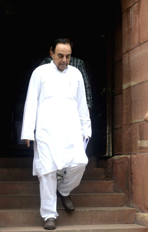 BJP MP Subramanian Swamy at Parliament in New Delhi, on July 28, 2016.