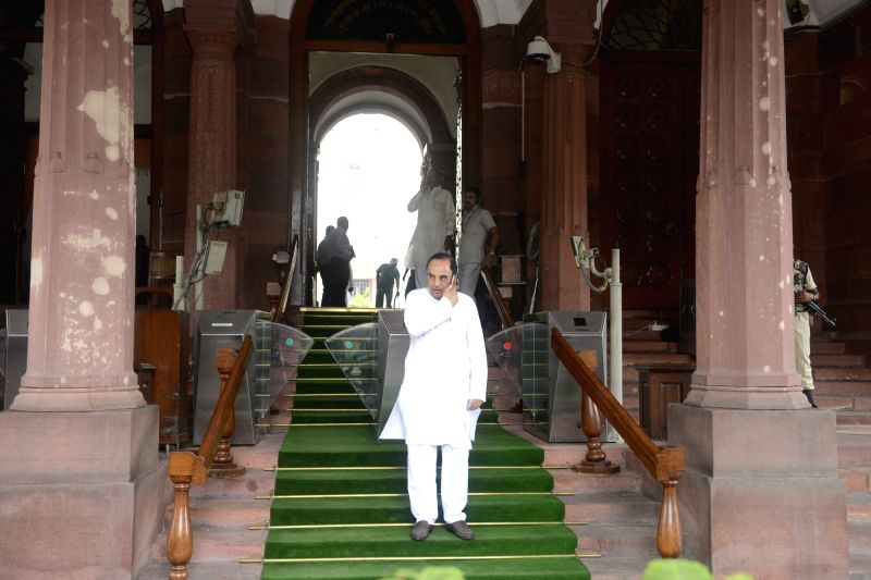 BJP MP Subramanian Swamy at Parliament in New Delhi, on Aug 11, 2016.