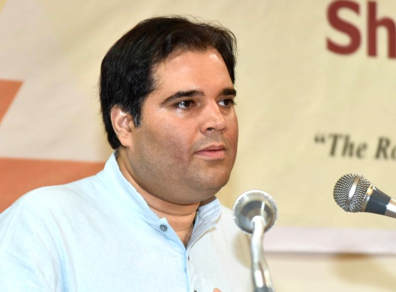 "BJP MP Varun Gandhi addresses during ""The Road to Justice opportunities and Impediments"" seminar, organised by  National Law School of India, in Bengaluru, on July 19, 2018. - Varun Gandhi"