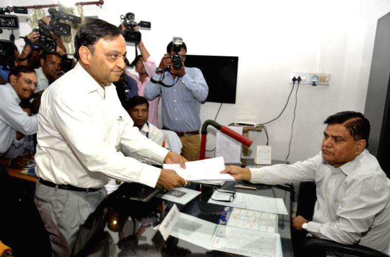 BJP nominee for Rajya Sabha Mahesh Poddar files nomination at Jharkhand Assembly in Ranchi on May 31, 2016.