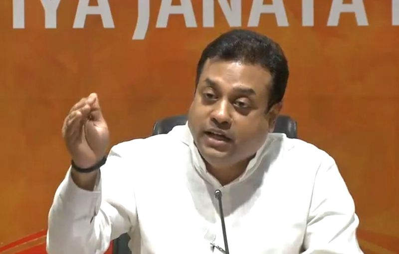 BJP spokesperson Sambit Patra addresses a press conference in New Delhi, on June 7, 2018.