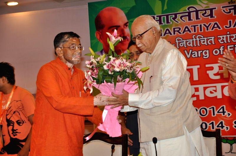 BJP veteran L K Advani orientation programme for first-time BJP MPs at Surajkund in Haryana on June 29, 2014. - L K Advani