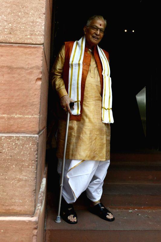 BJP veteran Murli Manohar Joshi at Parliament in New Delhi on May 9, 2016. - Murli Manohar Joshi
