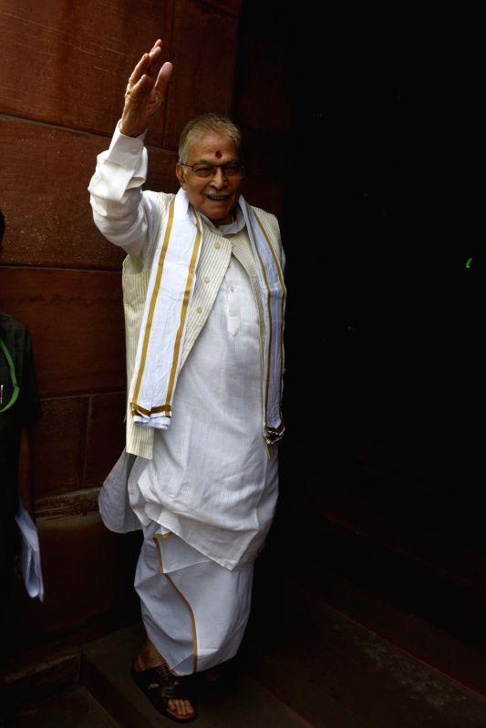 BJP veteran Murli Manohar Joshi at Parliament in New Delhi, on July 21, 2016. - Murli Manohar Joshi