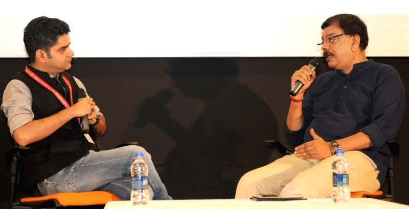 BLACK BOX in conversation with Director Priyadarshan, at the 46th International Film Festival of India (IFFI-2015), in Panaji, Goa on Nov 25, 2015.