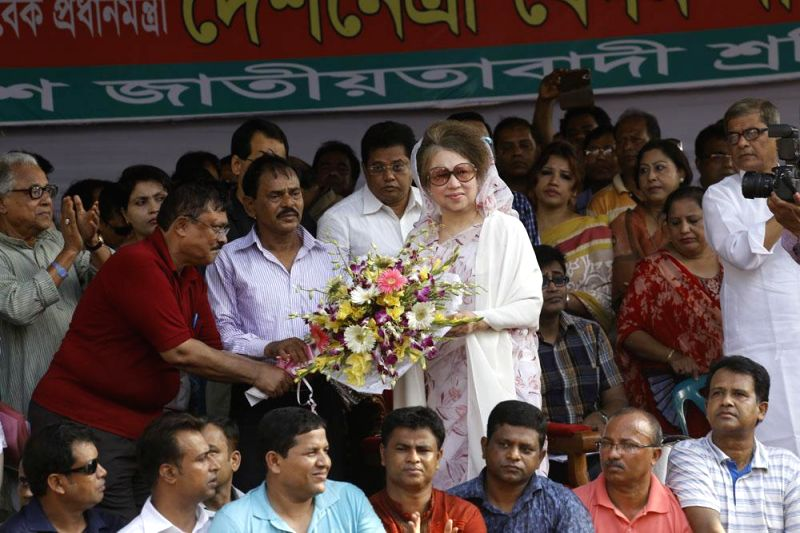 BNP Chairperson Khaleda Zia during a rally organised by Jatiyatabadi Sramik Dal on International Workers' Day in Dhaka of Bangladesh on May 1, 2014.