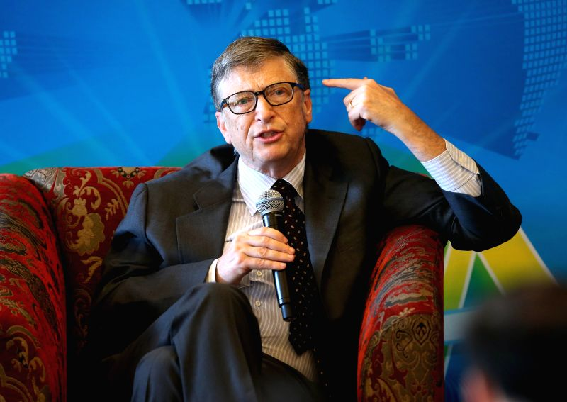 "Co-chair of the Bill & Melinda Gates Foundation Bill Gates speaks at the breakfast meeting with the theme of ""Dialogue: Technology & Innovation for a ..."