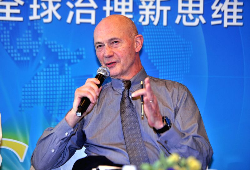 """Former Director General of the World Trade Organization Pascal Lamy speaks at the luncheon with the theme of """"Brainstorming: Rethinking Global Governance"""" ..."""