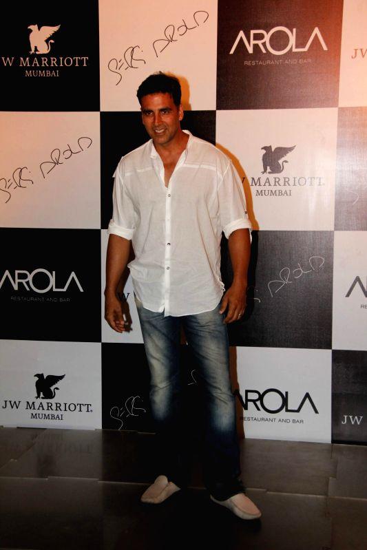 Bollywood actor Akshay Kumar at the launch of AROLA Restaurant in JW Mariott, Mumbai. - Akshay Kumar