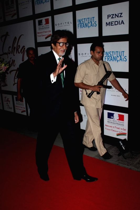 Bollywood actor Amitabh Bachchan at the launch of `Ishq in Paris` film at Trident. - Amitabh Bachchan
