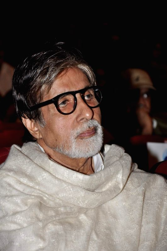 Bollywood actor Amitabh Bachchan during a program to celebrate Sachin Pilgaonkar's 50 years in the Indian film industry in Mumbai on September 5, 2013. - Amitabh Bachchan