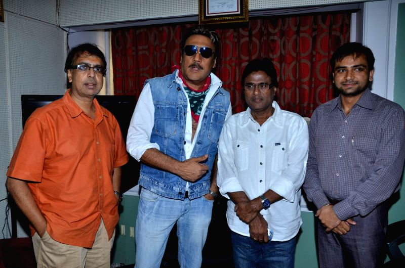 Bollywood actor Jackie Shroff promotes film `Life Is Good` with Anant Mahadevan at MHADA.