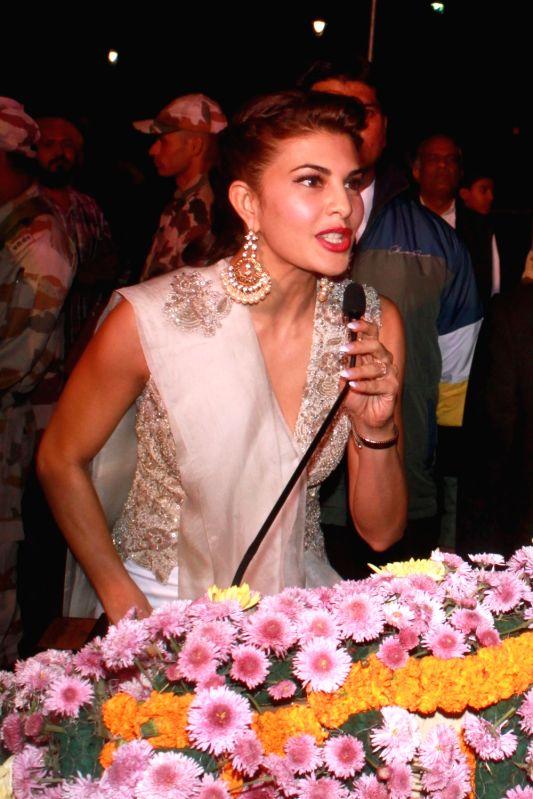 Bollywood actor Jacqueline Fernandez at the inauguration of Delhi International Film Festival in New Delhi on Dec, 5, 2015.