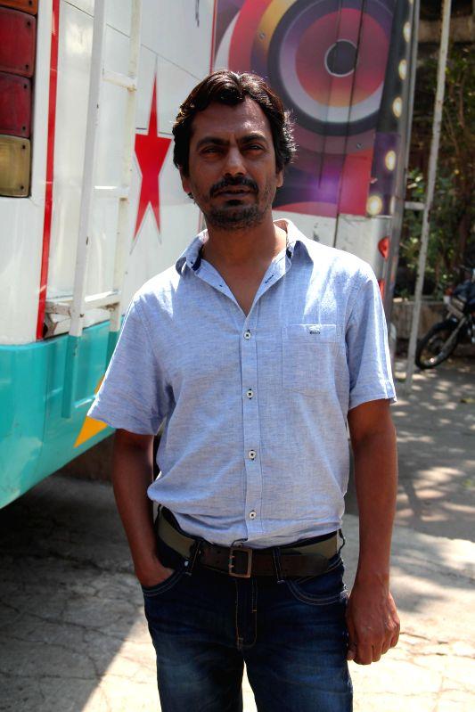 Bollywood actor Nawazuddin Suddiqui on the sets of NDTV Prime`s Ticket to Bollywood in Mumbai, on May 2, 2014. - Nawazuddin Suddiqui