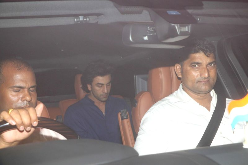Bollywood actor Ranbir Kapoor spotted at filmmaker Karan Johar`s residence in Mumbai, on June 9, 2017. It was a late night dinner party at the filmmaker's house. - Ranbir Kapoor