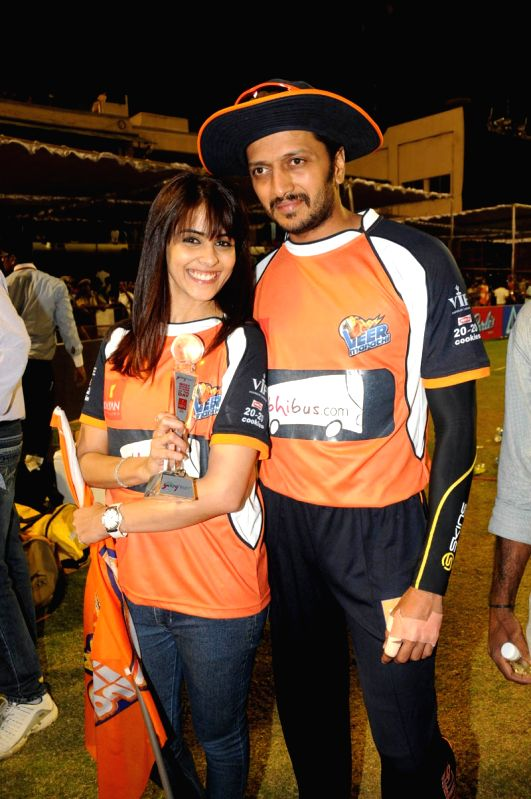 CCL match between Telugu Warriors vs Mumbai - Riteish Deshmukh
