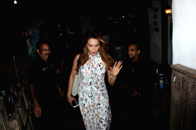 Bollywood actor Salman Khan`s rumoured girlfriend Iulia Vantur was spotted at a salon in Bandra, Mumbai on June 04, 2017. - Salman Khan
