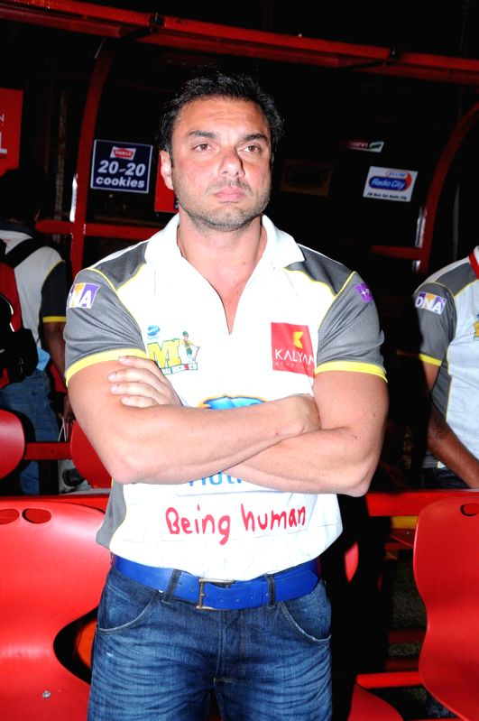 CCL match between Telugu Warriors vs Mumbai - Sohail Khan