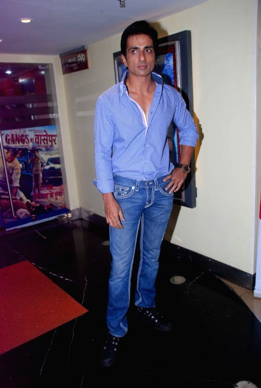 Bollywood actor Sonu Sood Maximum film music launch at PVR Mumbai, India. - Sonu Sood Maximum