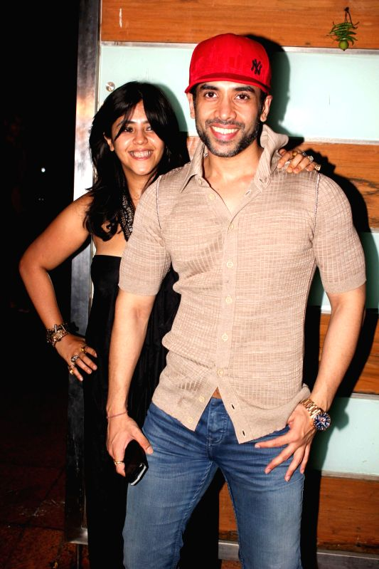 Bollywood actor Tusshar Kapoor and Ekta Kapoor during film Shootout at Wadala success party at Ekta Kapoor`s bungalow in Mumbai on Sunday, May 5, 2013 - Tusshar Kapoor and Ekta Kapoor