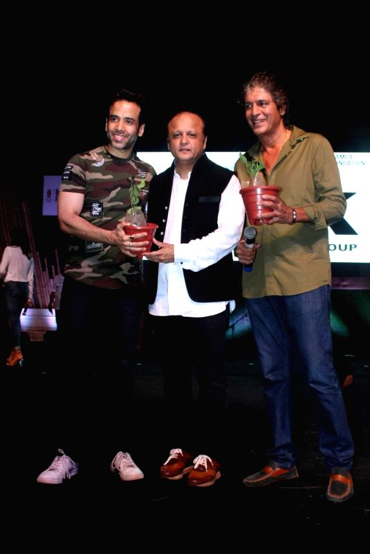 Bollywood actor Tusshar Kapoor, Asif Bhamla, President Bhamla Foundation and Chunky Pandey during a program to celebrate world environment day organized by Bhamla Foundation and MCGM in ... - Tusshar Kapoor and Pandey