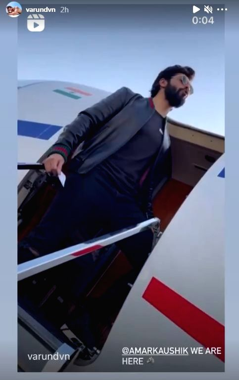 "Bollywood actor Varun Dhawan on Wednesday morning posted an Instagram clip, where he howls like a wolf as he stands at the entry of a chartered plane. Varun is all set to star in a film titled ""Bhediya""."