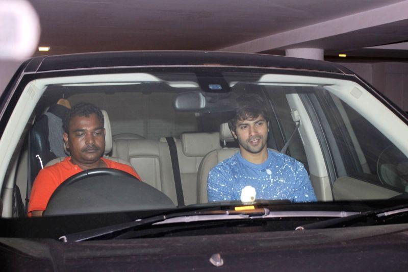 Bollywood actor Varun Dhawan spotted at filmmaker Karan Johar`s residence in Mumbai, on June 9, 2017. It was a late night dinner party at the filmmaker's house. - Varun Dhawan