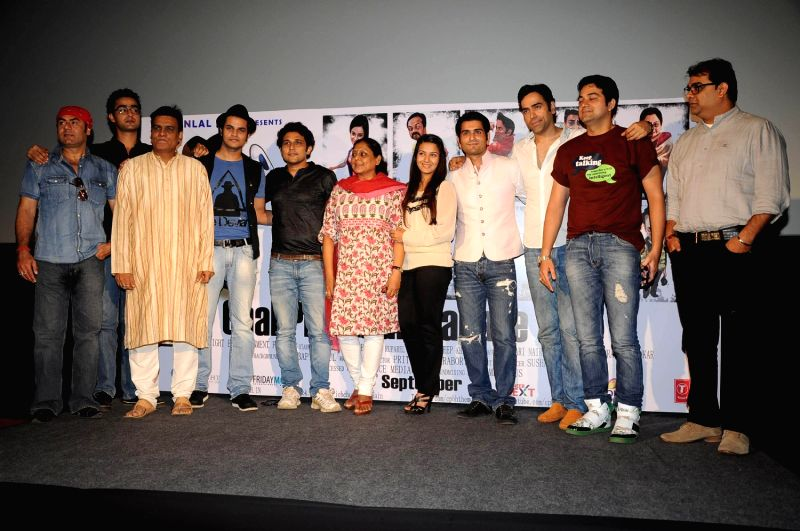 "Bollywood actors and celebs Gaurav Dagaonkar , Pritish Chakraborty, Bhavna Ruparel , Rahil Tandon and Sushant Baliga screened at  first look of their debut film ""Chal Pichchur Banate Hain"" . - Pritish Chakraborty"