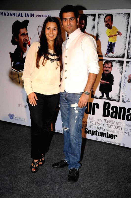 "Bollywood actors Rahil Tandon and Bhavna Ruparel screened at  first look of their debut film ""Chal Pichchur Banate Hain"" at PVR Mumbai. - Rahil Tandon and Bhavna Ruparel"