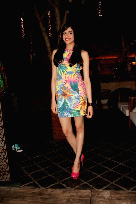 Bollywood actress Adah Sharma during the Promotion of film Hum Hai Raahi Car Ke in Mumbai on May11, 2013. - Adah Sharma
