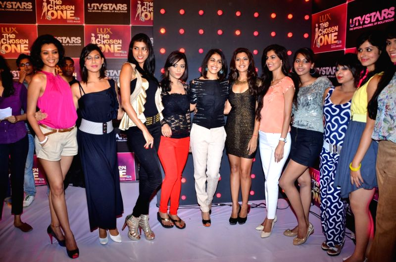 Bollywood actress Genelia D`Souza at UTV Stars The Chosen One press meet. - Genelia D