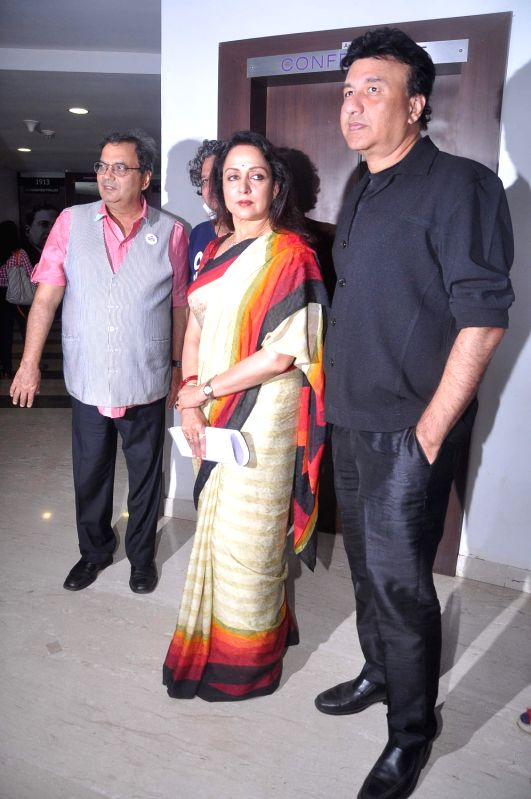 Bollywood actress Hema Malini and music director Anu Malik at Whistling Woods anniversary celebrations at Filmcity. - Hema Malini and Malik